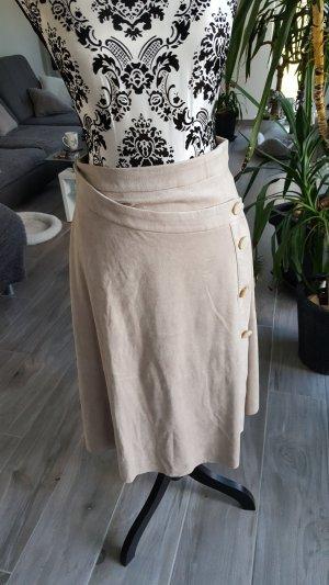 Zara Basic Midi-rok zandig bruin