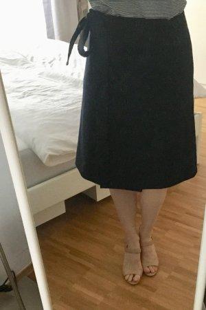 COS Wraparound Skirt dark blue