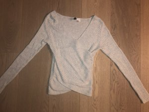 H&M Wraparound Shirt light grey