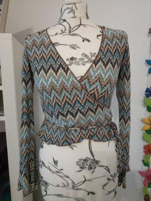 Melrose Camisa cruzada multicolor tejido mezclado