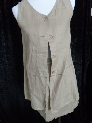 Pantalón de lino marrón arena-beige Lino