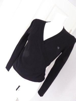 Jette Joop Cache-cœur en tricot noir laine mérinos