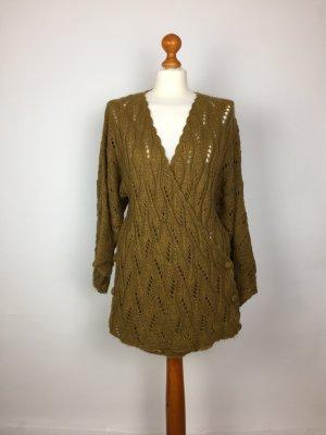 Zara Cache-cœur en tricot brun sable
