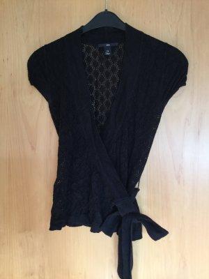 H&M Camisa cruzada negro