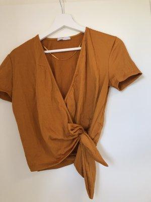 Zara Basic Top dark orange