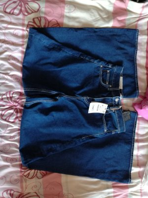 Wide Jeans mit Kontrastnähten Vintage Flair