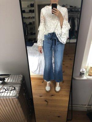 H&M Hoge taille jeans staalblauw-korenblauw
