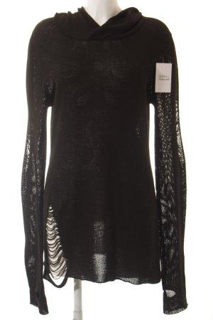 Widow Pulloverkleid schwarz Destroy-Optik