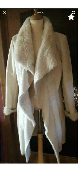 Rino & Pelle Abrigo de piel sintética crema