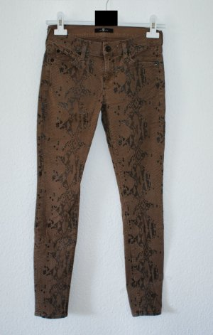 wie neu!! 26 ● 7 FOR ALL MANKIND ● Luxus Jeans Hose Snakeprint ● Röhre Skinny