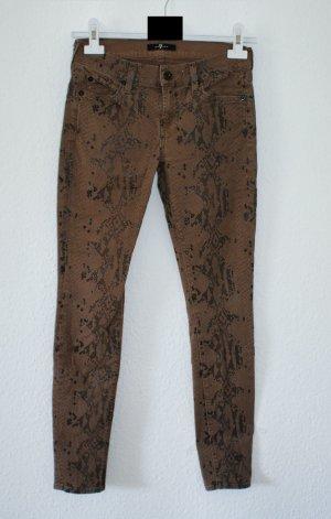 wie neu!! 26 ● 7 FOR ALL MANKIND ● Luxus Skinny Jeans Snakeprint NUR NOCH 4 TAGE