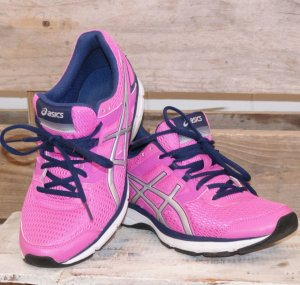 Asics Lace-Up Sneaker magenta-blue synthetic fibre