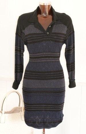 wie neu! 34 1 ISABEL MARANT ÉTOILE ~ Kleid Jersey Blau Schwarz Frühling Stretchkleid
