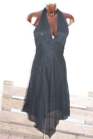 wie neu!!!  34 40 PRADA schönstes Luxus Kleid Neckholder Volant Schwarz
