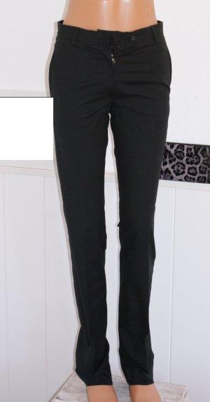 wie neu!! 34 JIL SANDER Luxus Hose Cotton Pants Schwarz schmale Form