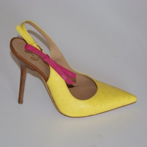 wie neu! 39 ● DSQUARED2 ● Luxus Pumps Straußenleder High Heels Riemchenpumps