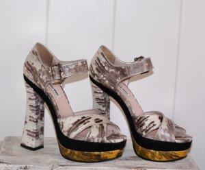 WIE NEU ● 39 ● MIU MIU ● Luxus Sandale aus Schlangenleder ● PUMPS