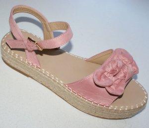 Espadrille sandalen stoffig roze Imitatie leer