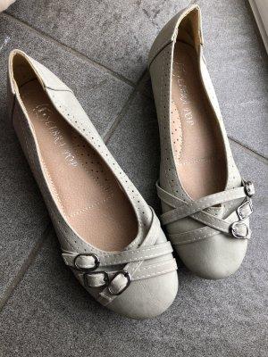 Jumex Bailarinas de tira gris claro
