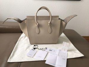 Wie neu! Celine Tie Knot Bag mit Pouch Clutch in chalk weiß / Creme