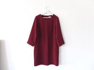 wie neu COS Kleid Gr. 40 aubergine vino weinrot bordeaux Tunika