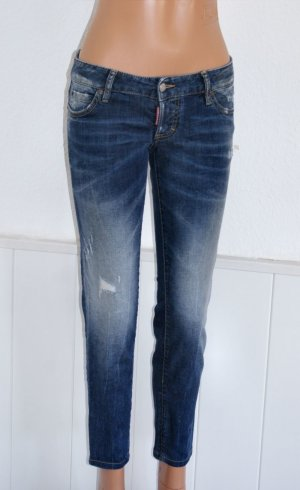 wie Neu!!! DE 34 IT 40 ♥♥ DSQUARED2 ♥♥ Luxus Skinny cropped Jeans ♥ Destroyed Hose ♥ NP 430,- ♥