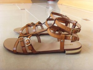Dune Roman Sandals brown leather
