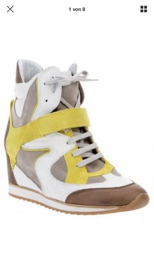 Elena Lachi Wedge Sneaker multicolored leather