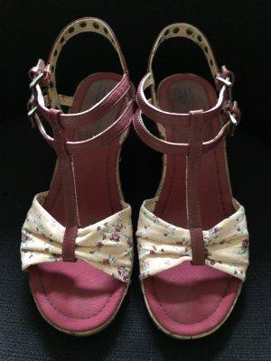*Wie NEU* Esprit Alis Sandalette / Sandale / Wedges / Keilabsatz / Gr. 40 / Blumen