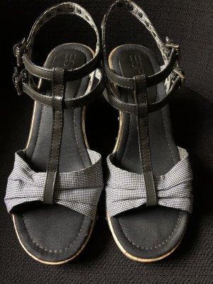 *Wie NEU* Esprit Alis Sandalette / Sandale / Wedges / Keilabsatz / Gr. 40 / Karo