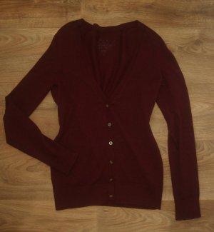 Wie neu: Esprit Strickjacke/Cardigan Gr.S/M (38/40) weinrot Pullover dunkel-rot