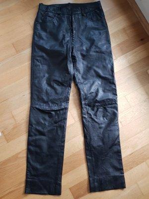 Leren broek grijs-bruin-zwart Leer