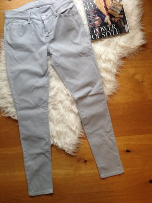 wie neu! Gr. 28 - 7 For All Mankind - Skinny Jeans Röhre in Grau Mod. Gwenevere