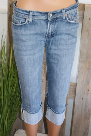 7 For All Mankind Jeans 7/8 bleu acier coton