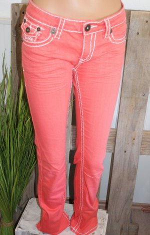 Tube Jeans orange cotton