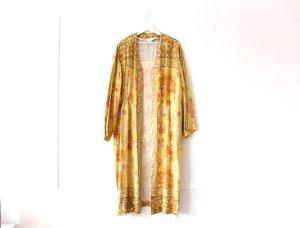 wie neu H&M Trend Kimono Gr. M 40 42 gelb Muster Kaftan Kleid