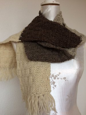 Knitted Scarf multicolored wool