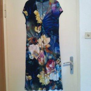 Wie neu! Interessantes Kleid in Blumenmuster