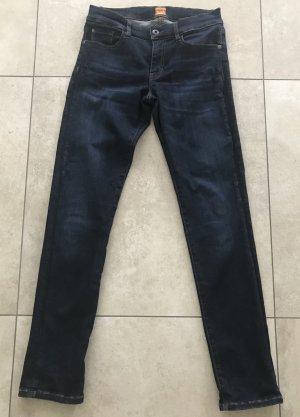Boss Orange Slim Jeans dark blue cotton