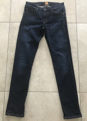 Boss Orange Slim Jeans dark blue cotton