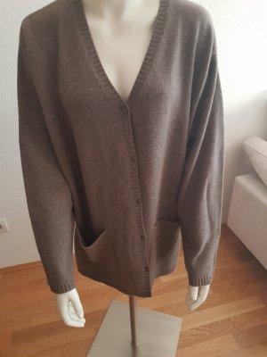 Giacca di lana marrone chiaro Cachemire