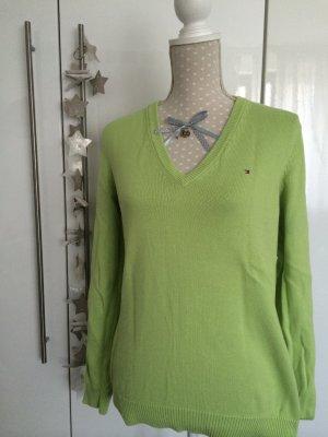Wie neu klassischer Hilfiger Pullover Gr L Apfelgrün