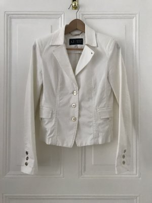 Armani Denim Blazer white cotton