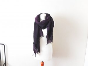 Fraas Scarf black-brown violet wool