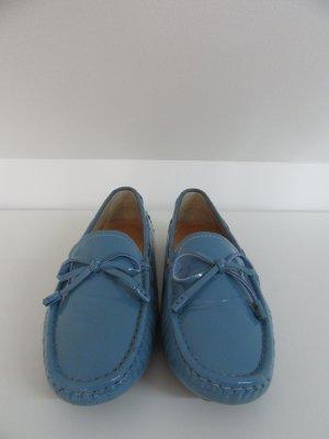 Mocassins lichtblauw-azuur