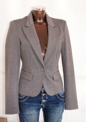 wie Neu! ~ M 38 ONLY Blazer Jersey Stretch in Grau ~ Business Uni Job