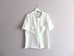 wie neu Mango oversize Bluse Gr. M 38 40 weiß Taschen