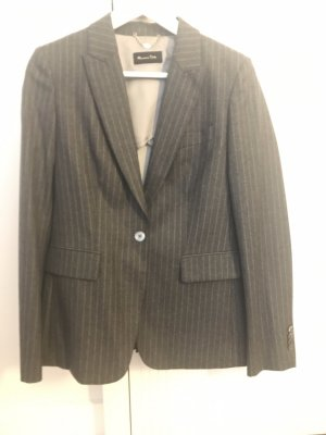 Massimo Dutti Blazer in lana grigio scuro Lana