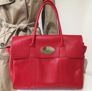 Wie neu mit Rechnung! Original Mulberry Bayswater Tasche Rot Leder, Shiny Goat