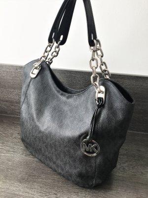 Michael Kors Pouch Bag black-silver-colored